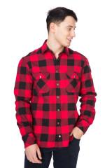Рубашка мужская красная в клеточку van Laack 1