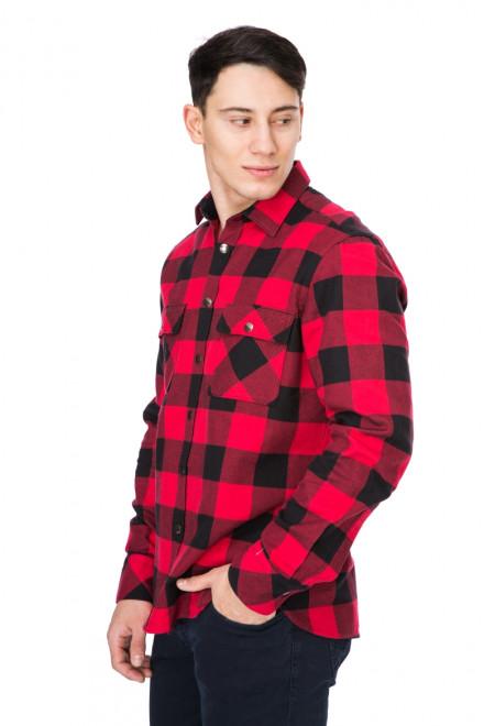 Рубашка мужская приталенная красная в клетку van Laack