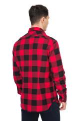 Рубашка мужская красная в клеточку van Laack 2