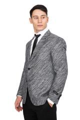Серый однобортный пиджак Cadini 4