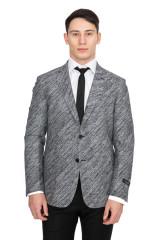 Серый однобортный пиджак Cadini