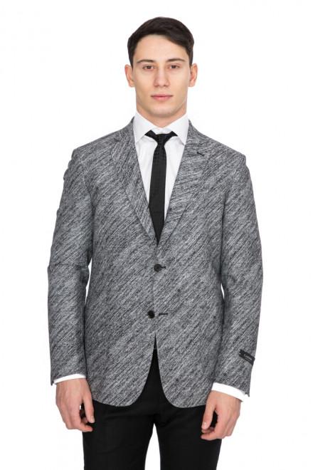 Пиджак мужской однобортный на две пуговицы серый Cadini