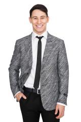 Серый однобортный пиджак Cadini 3