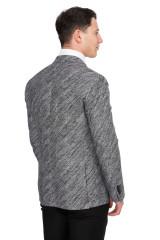 Серый однобортный пиджак Cadini 2
