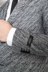 Серый однобортный пиджак Cadini 1