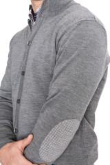 Кардиган мужской на пуговицах серый Cadini