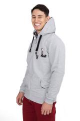 Пуловер мужской на двусторонней молнии светло-серый van Laack
