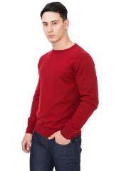 Пуловер мужской приталенный красного цвета Carnevale