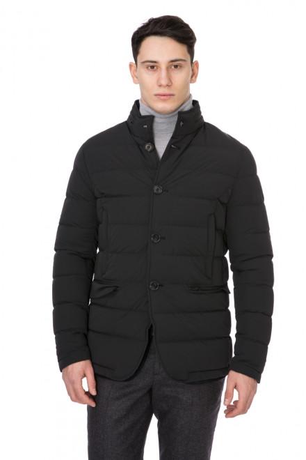 Куртка мужская стеганая на пуговицах черная Pal Zileri