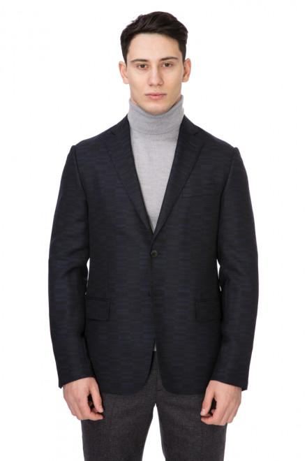 Пиджак мужской однобортный на две пуговицы темно-синий Pal Zileri