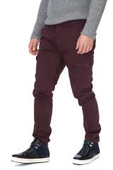 Штаны мужские карго из хлопка бордовые Harmont & Blaine