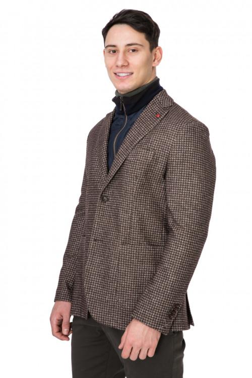 Пиджак мужской однобортный на две пуговицы коричневый Harmont & Blaine