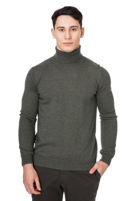 Пуловер мужской с высоким воротником оливковый Blauer