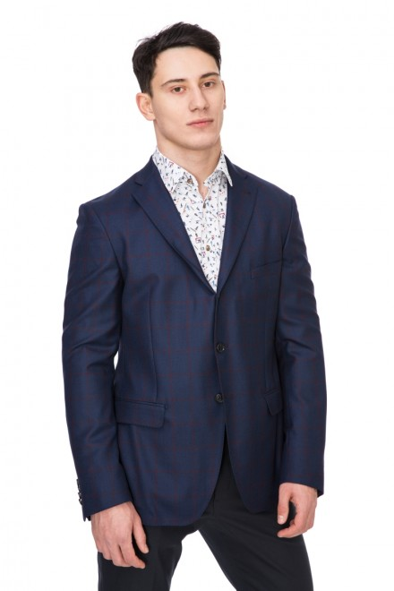 Пиджак мужской однобортный на три пуговицы синий van Laack