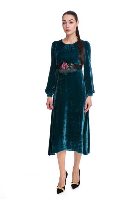 Платье женское длинное синее Beatrice