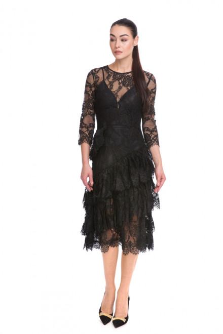 Платье женское черное кружевное с подкладкой Miss Sixty