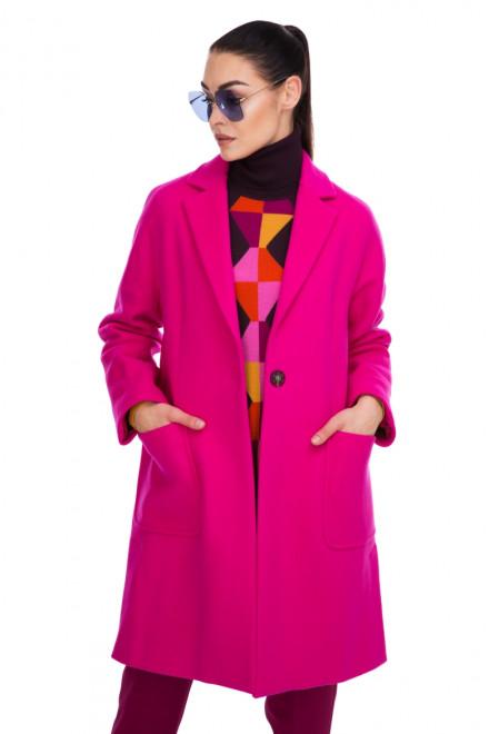 Пальто женское широкое розовое Beatrice