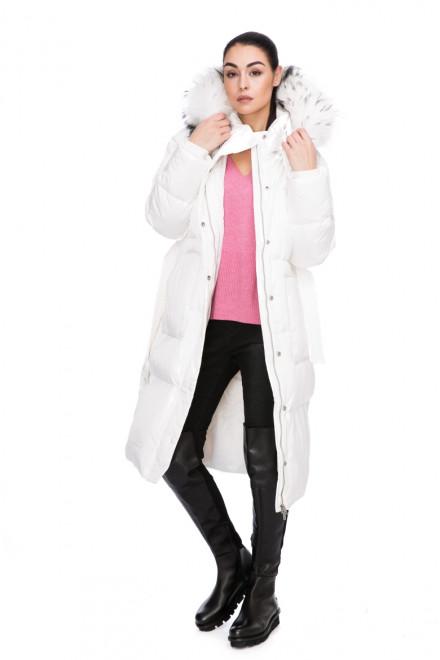 Куртка с капюшоном белая приталенная Miss Sixty