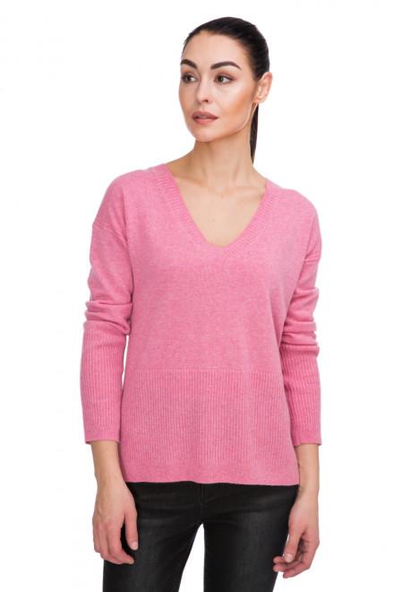 Пуловер женский розовый с V-образным вырезом Steffen Schraut