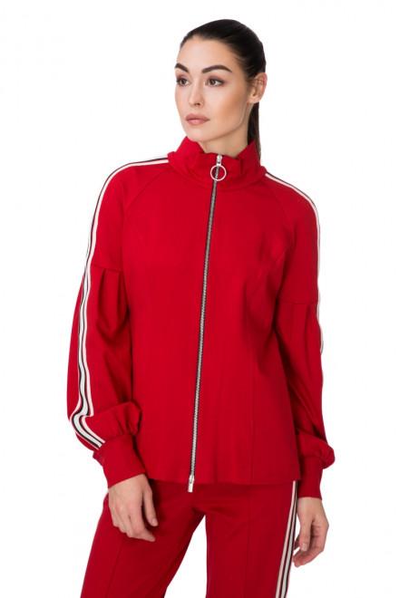 Пуловер женский на молнии красный Sfizio