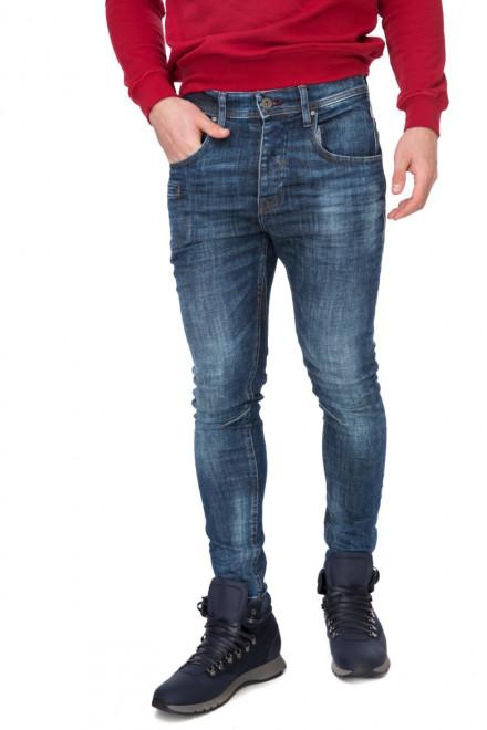 Штаны мужские джинсы темно-синие с потертостями Blend