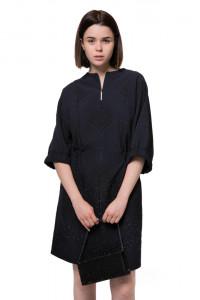 Платье черное с люрексом Iris Janvier