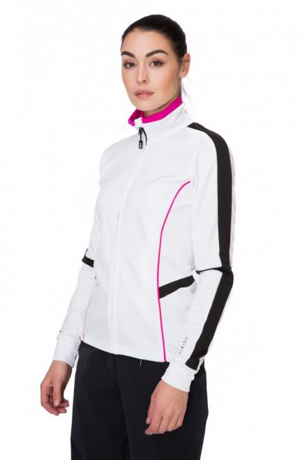 Пуловер женский лыжный на молнии белый Zero rh+