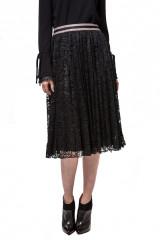 Юбка женская черного цвета кружевная плиссе Luisa Cerano