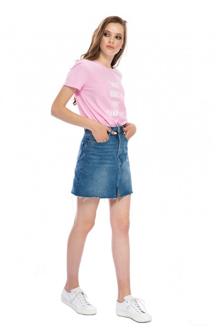Юбка женская джинсовая с необработанным краем короткая Miss Sixty