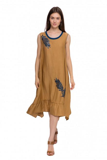 Платье женское свободного кроя без рукавов коричневого цвета Beatrice B.