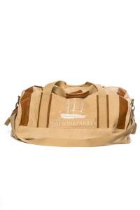 Сумка дорожная бежевого цвета с коричневыми кожаными вставками Watson&Parker