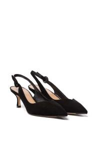 Сандалии женские черного цвета с открытой пяткой и закрытым носком The Seller