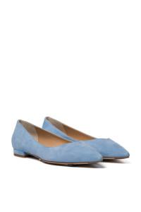 Туфли женские (балетки) светло-голубые на низком ходу The Seller