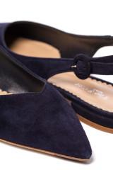 Туфли женские черного цвета с открытой пяткой на низком ходу The Seller
