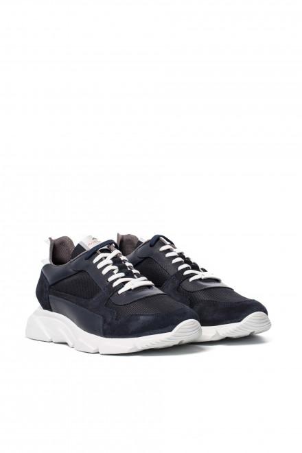 Туфли спортивные мужские темно-синего цвета с надписью Ambitious