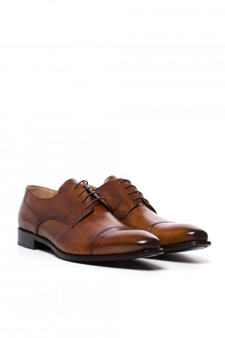 Туфли мужские (дерби) коричневого цвета Dino Draghi