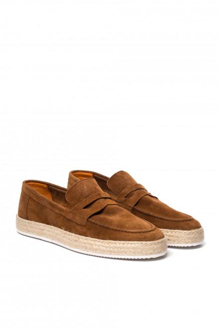 Туфли спортивные мужские из коричневой замши Ambitious