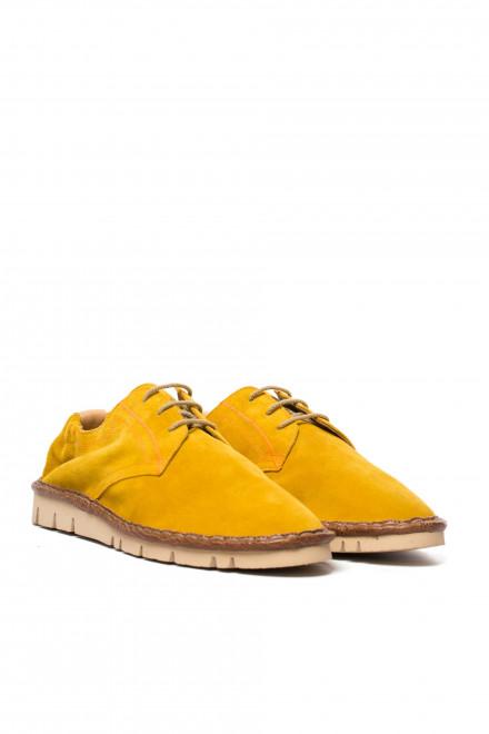 Нубукові дербі Watson&Parker жовтого кольору
