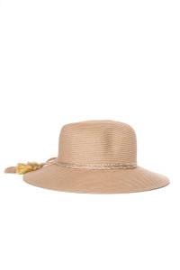 Шляпа женская с широкими полями и кисточками золотистого цвета Seafolly