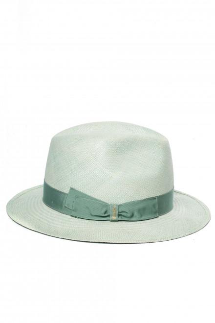 Шляпа женская с узкими полями светло-зеленая Borsalino