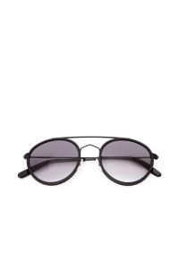 Солнцезащитные мужские очки с серыми стеклами в металлической оправе Spektre