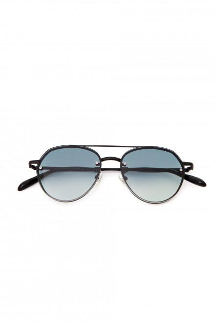 Солнцезащитные очки мужские с серыми линзами в металлической оправе Spektre