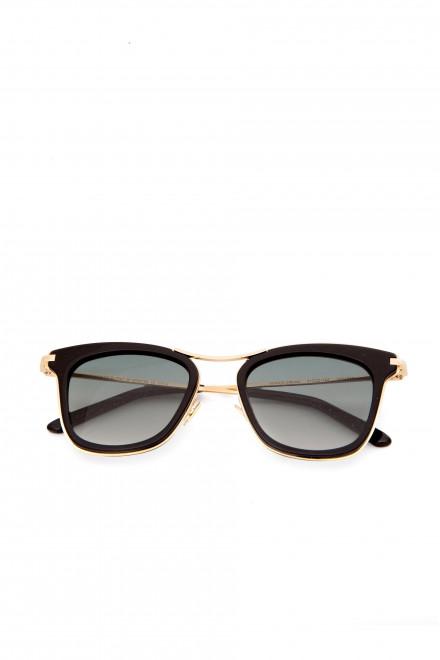 Солнцезащитные женские очки с зелеными стеклами в металлической оправе Spektre