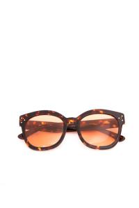 Солнцезащитные женские очки с оранжевыми линзами крупной формы Spektre