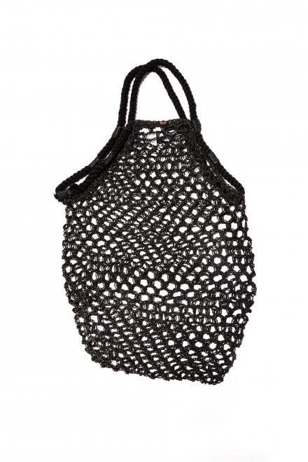 Сумка женская плетеная черного цвета Seafolly