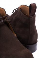 Ботинки мужские темно-коричневые замшевые Joseph Cheaney&Sons