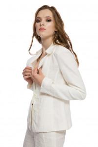 Пиджак женский белого цвета приталенный Strenesse