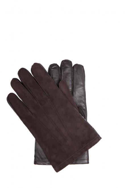 Перчатки мужские кожаные комбинированные Sermoneta Gloves