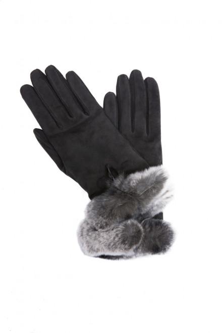 Перчатки женские замшевые с мехом Sermoneta Gloves
