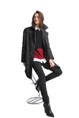 Пальто женское черное Luisa Cerano 5